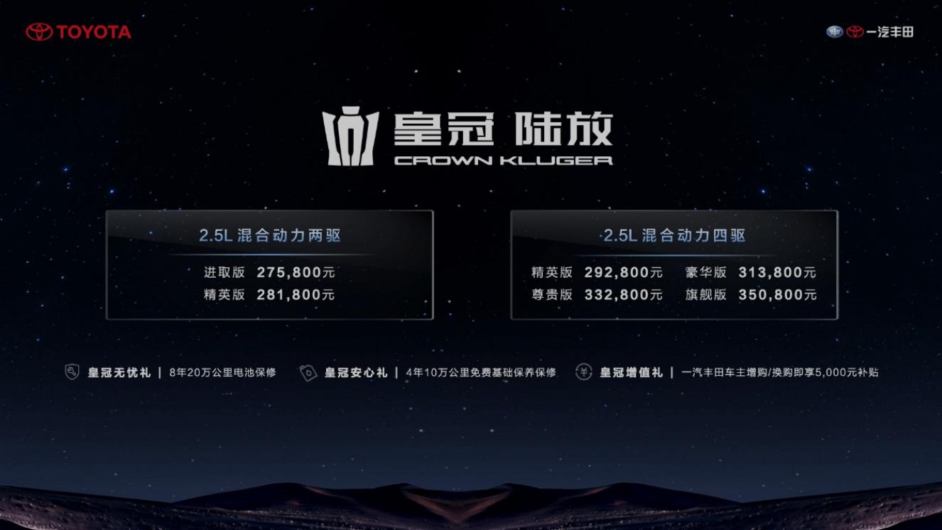 承经典铸传奇一汽丰田皇冠陆放耀世登场 售价27.58万元起